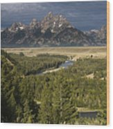 Teton Valley Snake River Wood Print