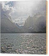 Tetons At Jenny Lake Wood Print