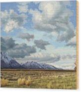 Tetons-Moose Wood Print