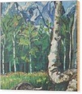 Tetons Wood Print