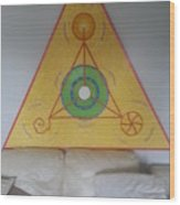 Tetrahedron From Wheat-shire Wood Print