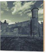 Teutonic Castle In Szymbark In Monochrome Wood Print