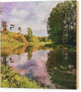 Teviot River Near Kelso. Wood Print