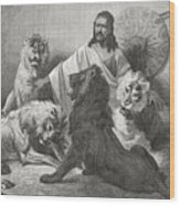 Tewodros Holding Audience, Surrounded Wood Print