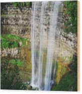 Tew's Waterfall Wood Print