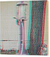 Texaco Gas Pump - Use Red-cyan 3d Glasses Wood Print