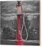 Texaco Gas Pump Wood Print
