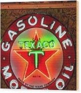 Texaco Gasoline Wood Print