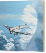 Texaco Sky Chief Wood Print