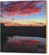 Texan Sky Wood Print