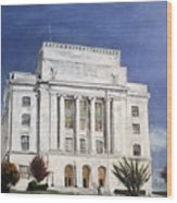Texarkana Courthouse Wood Print