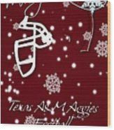 Texas Am Aggies Christmas Card Wood Print