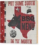 Texas Barbecue 4 Wood Print