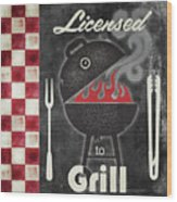 Texas Barbecue I Wood Print