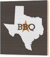 Texas Bbq Wood Print