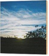 Texas Big Blue Sky Wood Print