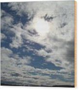 Texas Blue Sky Two Wood Print