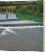 Texas Bridge Wood Print