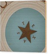 Texas Capitol Dome Lone Star In Austin, Texas, Usa Wood Print
