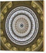 Texas Capitol Dome Wood Print
