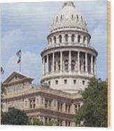 Texas Capitol Wood Print