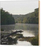 Texas Colorado River At Daybreak Wood Print