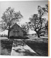 Texas Country Church Wood Print