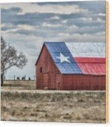 Texas Flag Barn #1 Wood Print