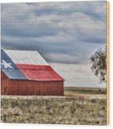Texas Flag Barn #2 Wood Print
