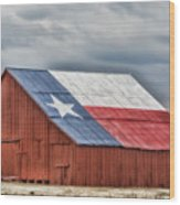 Texas Flag Barn #3 Wood Print