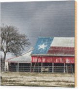 Texas Flag Barn #4 Wood Print