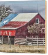 Texas Flag Barn #6 Wood Print