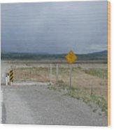 Texas Gate Canadian Rockies Wood Print