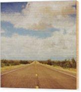 Texas Highway Wood Print