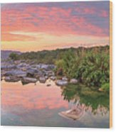 Texas Hill Country Morning Along The Pedernales 2 Wood Print