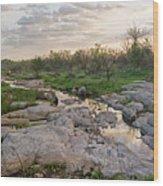 Texas Hill Country Sunrise - Llano Tx Wood Print
