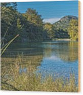 Texas Hill Country - The Frio River Wood Print