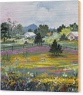 Texas Hillcountry Flowers Wood Print
