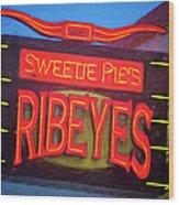 Texas Impressions Sweetie Pie's Ribeyes Wood Print