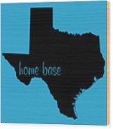 Texas Is Home Base Black Wood Print