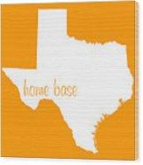 Texas Is Home Base White Wood Print