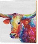 Texas Longhorn Art Wood Print