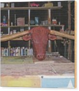 Texas Monster Longhorn Wood Print