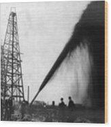 Texas: Oil Derrick, C1901 Wood Print by Granger