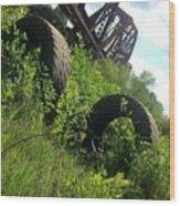 Texas Railway And Tires Wood Print