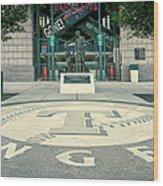 Texas Rangers Logo Wood Print
