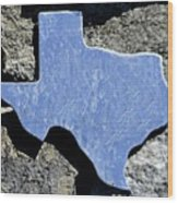 Texas Rocks Wood Print