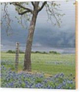 Texas Spring Storm Wood Print
