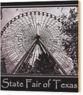 Texas Star Copper Poster Wood Print