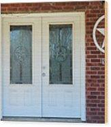 Texas Star Double Doors Wood Print